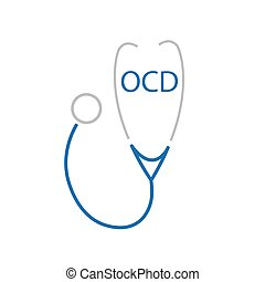 OCD (Obsessive Compulsive Disorder) acronym and stethoscope...