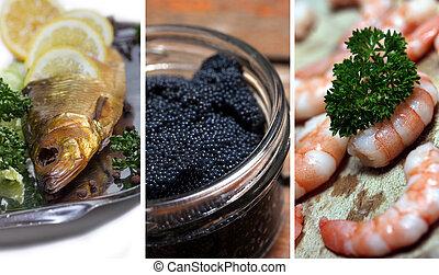 oceán food, vybírání