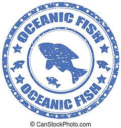 oceánico, fish-stamp