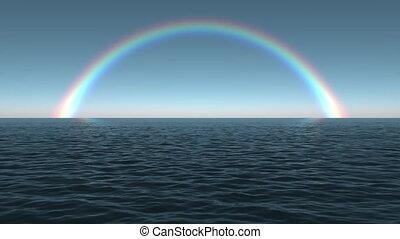oceânicos, arco íris, alvorada