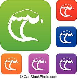 oceânicos, ou, mar, onda, jogo, cobrança