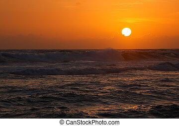 oceânicos, pôr do sol