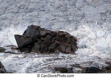 oceânicos, pedras