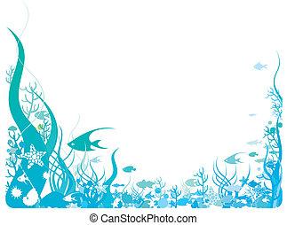 oceânicos, tema, quadro