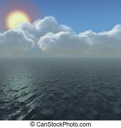 oceaan, hemel