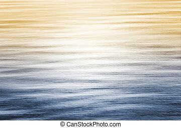 oceaan, weerspiegelingen, met, helling