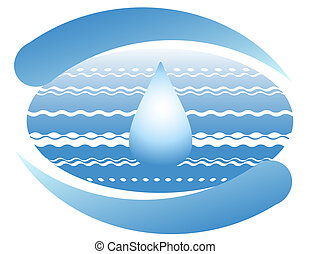 Ocean and drop of pure water on the