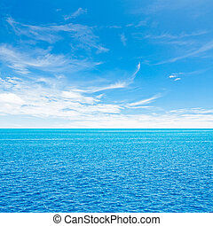 Ocean and sky. Tropical quad composition