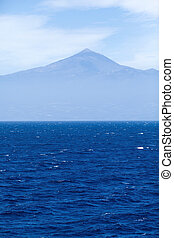 Ocean and Tenerife, Teide mountain - Ocean, sky and Tenerife...