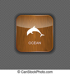 Ocean application icons vector illustration