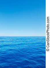 Ocean Background - Empty Blue Ocean and Blue Sky