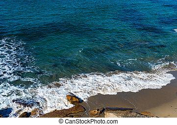 Ocean beach aerial view