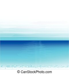 Ocean beach background vector