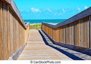 Beach bridge, walk