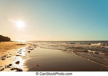 Ocean beach (Green Gables Shore, Prince Edward Island , ...