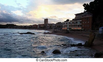 Ocean Beach in the evening