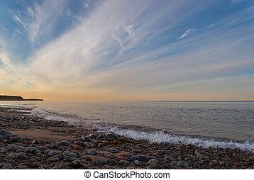 Ocean beach (Lawrencetown Beach, Nova Scotia, Canada)