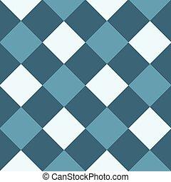 Ocean Blue White Diamond Chessboard Background