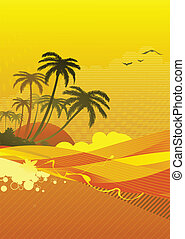 ocean coast - Vector illustration of abstract background...