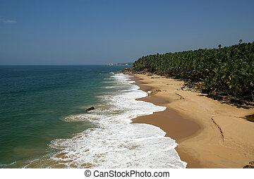 Ocean coast, Kerala, South India