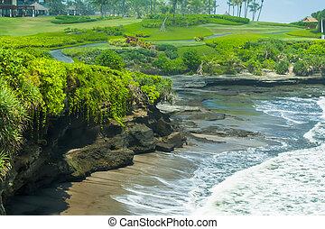 Ocean coast near Tanah Lot