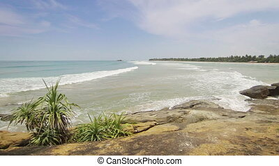 Ocean coast. Sri Lanka - Video 1920x1080 - Ocean coast. Sri...