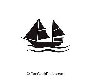 Ocean cruise liner ship silhouette simple