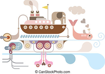 Ocean Cruise - vector illustration