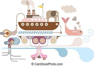 Ocean Cruise - vector illustration