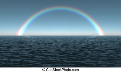 Ocean Dawn Rainbow - Using the same cinema-quality 3D...