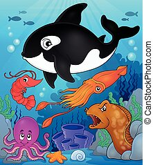 Ocean fauna topic image 8 - eps10 vector illustration.