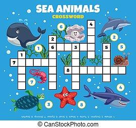 Ocean Fishes Funny Crossword
