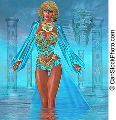 Ocean Goddess Standing in Water