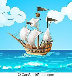 ocean-going, navio