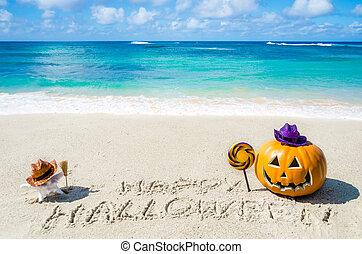 Ocean Halloween background