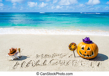 Ocean Halloween background