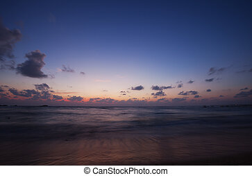 Ocean in the evening after sunset