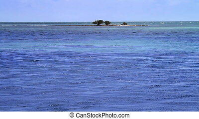 Ocean Island Florida Keys - Small Island in the Blue Ocean...