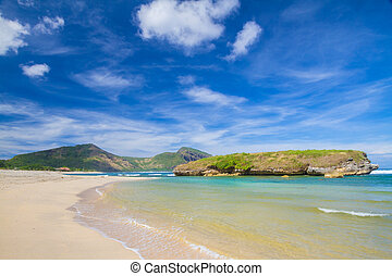 Ocean Landscape - Oceand Landscape at Sun Day. Sumbawa ...
