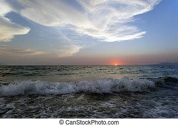 Ocean Landscape Sunset