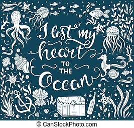 Ocean lettering illustration
