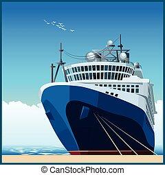 Ocean liner at the pier