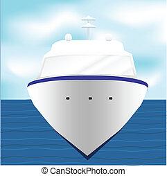 Ocean Liner Cruise Ship Boat at Sea artwork