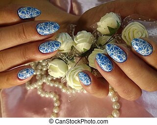 Ocean Manicure Nail Design - Here is presented one of the...