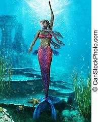 Ocean Mermaid - The Mermaid is a legendary aquatic creature...