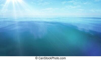 ocean, migotać