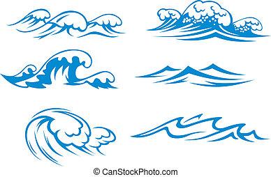 ocean, morze, fale