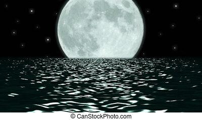 Ocean Night Large Moon Fantasy - Using the same...
