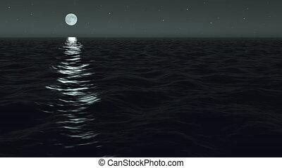 Ocean Night Moonrise - Using the same cinema-quality 3D...