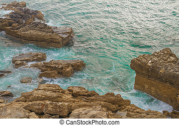 Ocean off the coast of Portugal.